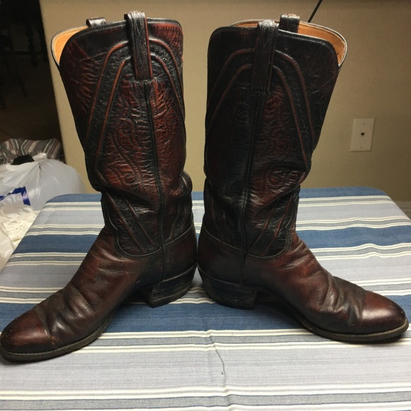 d48e65dd0fb VTG LUCCHESE Black Cherry Cowgirl Western Boots